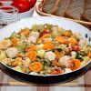 Рагу из овощей с  фрикадельками и чечевицей
