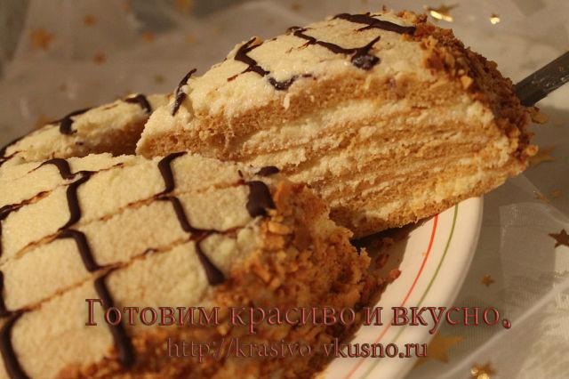 вкусный Карамельный тортик