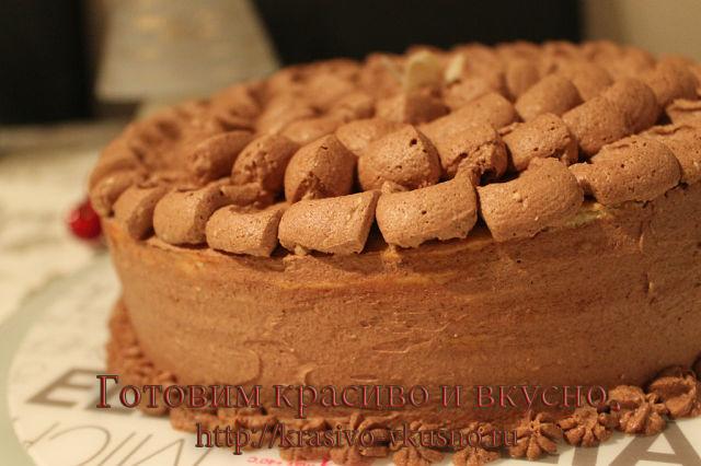 вкусный шоколадный тортик.