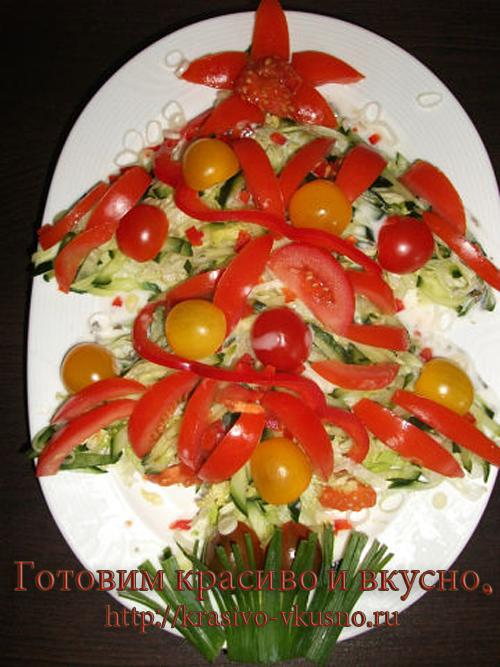 новогодний салат.