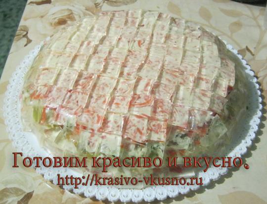 салат хрустальный