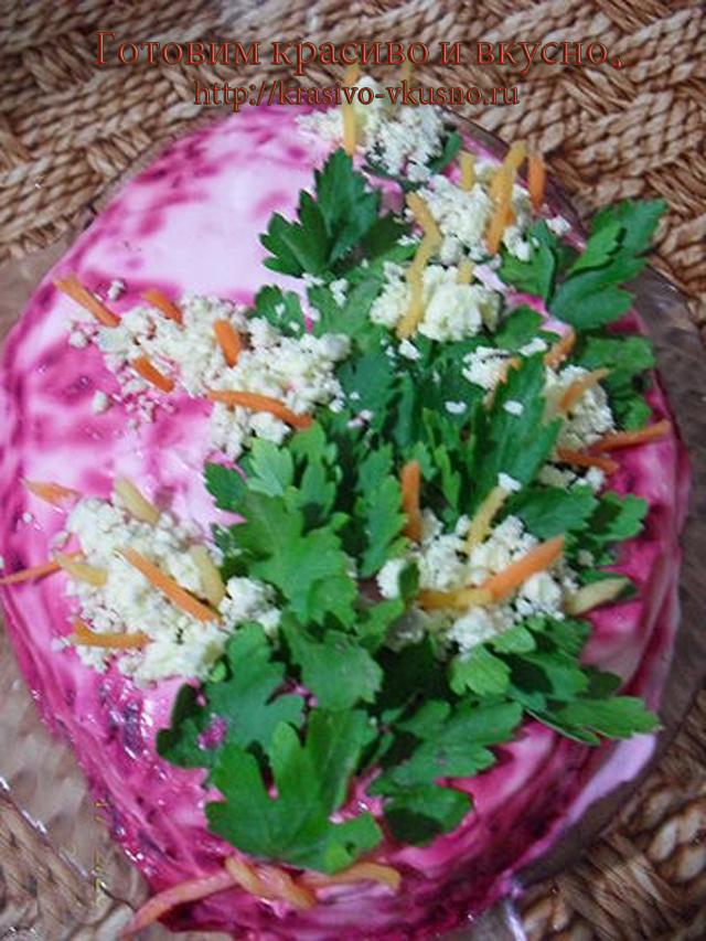 Салат селедка под шубой.