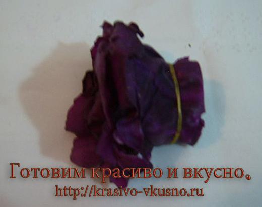 Роза из красной капусты.