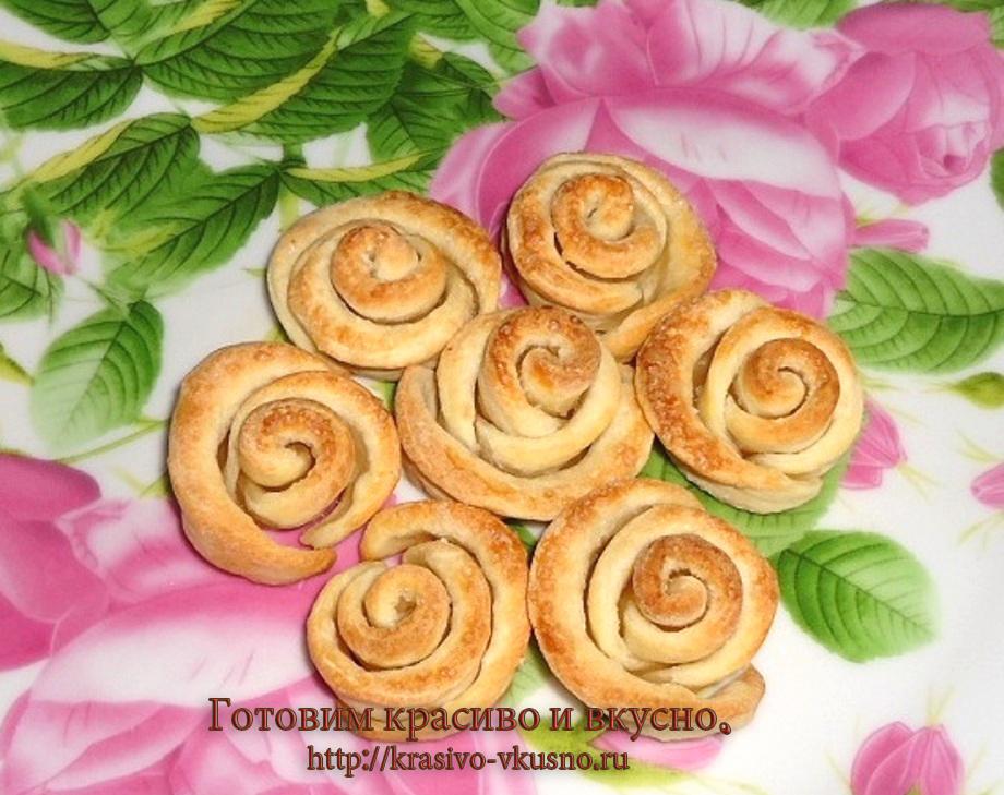 """Печенье """"розы""""."""
