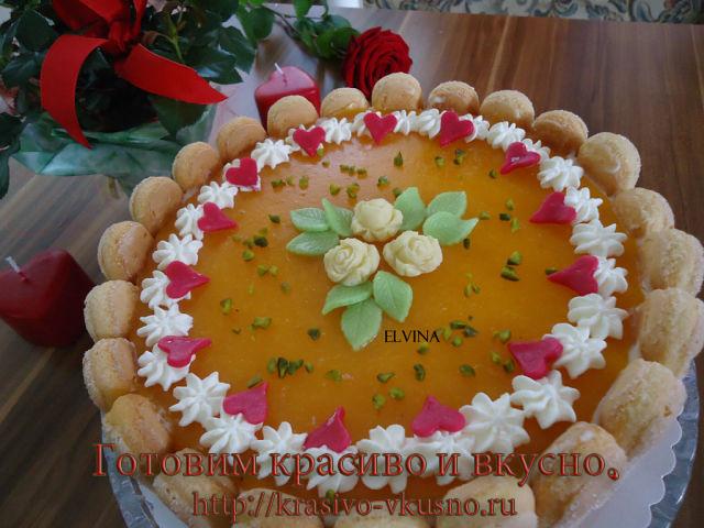 Персиковый торт.