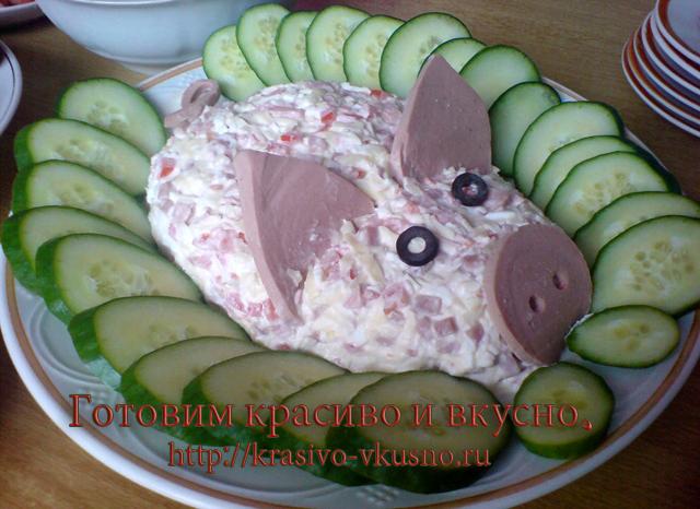 Детские салаты в виде животных с рецептами и