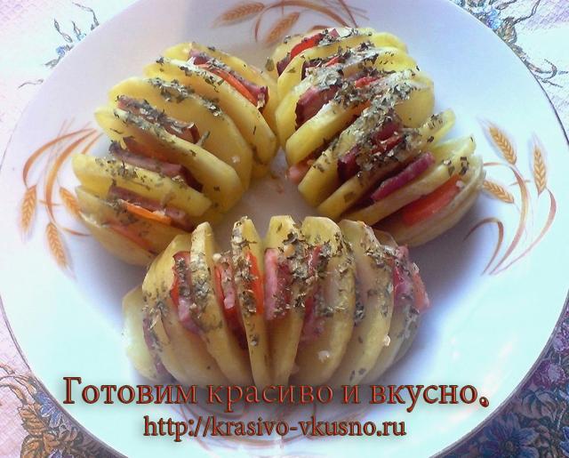 рецепт приготовления картошки гармошки в духовке