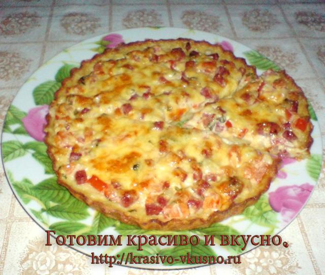 Картофельная пицца.