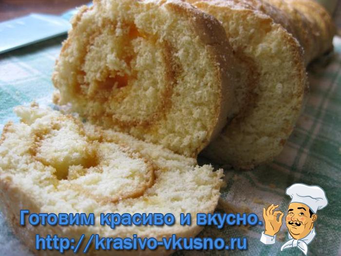 Торт с абрикосами.