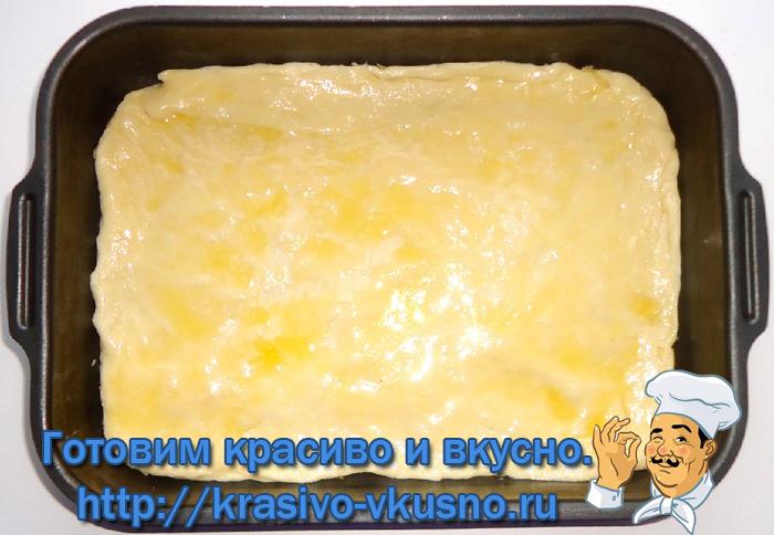 Очень вкусный пирог с сыром.