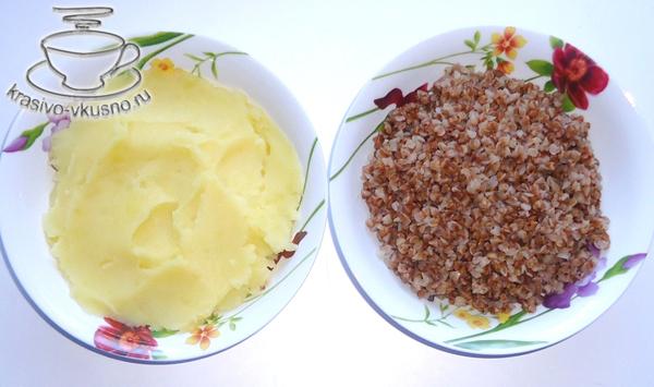 Картофельный пирог с гречкой (постный)