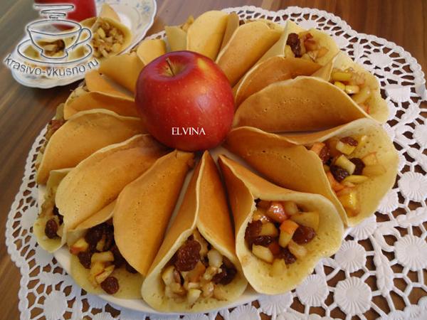 Вкусные блинчики и начинкой