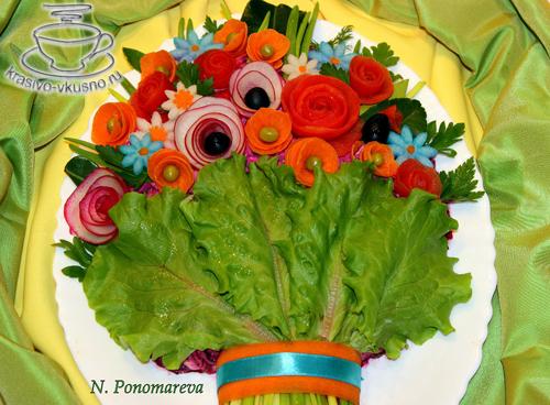 букета цветов