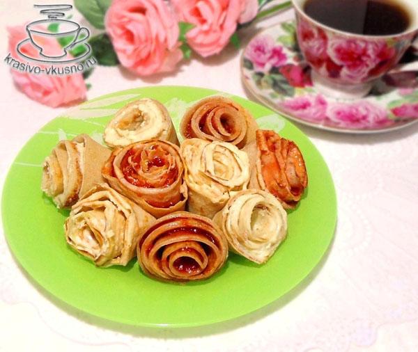 Блины розы