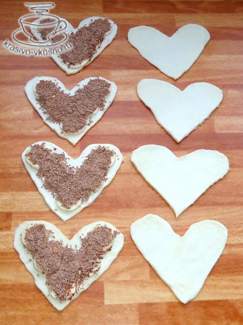 Слойки в форме сердца | Красивая выпечка