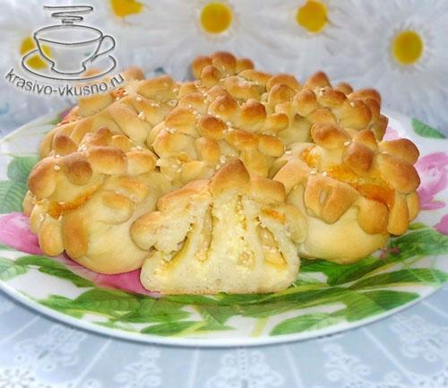 Пирог с сыром «Цветы» | Красивая выпечка