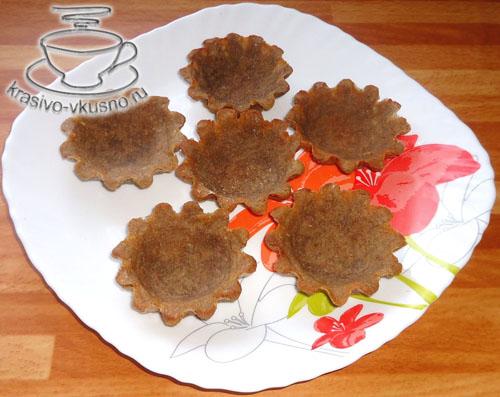 Постные картофельно-ржаные тарталетки с чечевицей