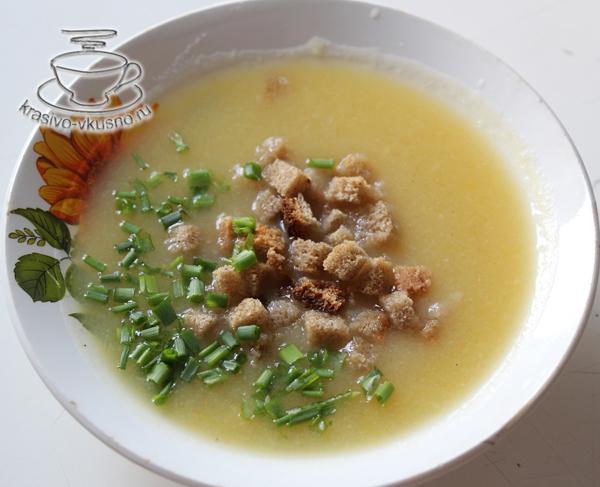 Суп-пюре из тыквы в мультиварке