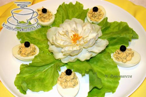 Холодная закуска, Яйца фаршированные, вкусно, красиво,
