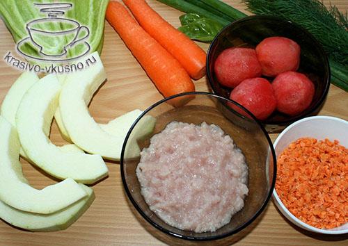 Рагу из овощей с фрикадельками