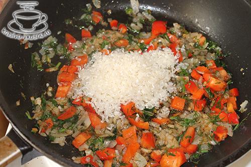 Острый гарнир из фасоли и риса