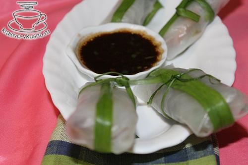 роллы с диким рисом и креветками