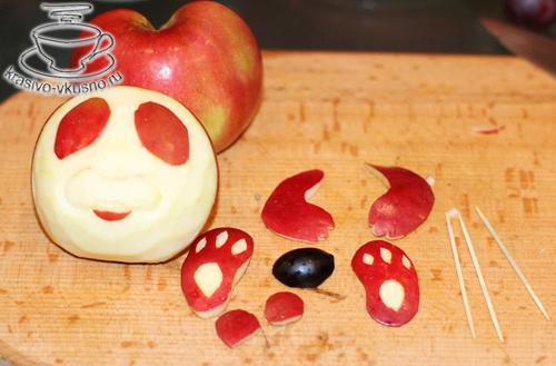 Украшение из яблока |Карвинг