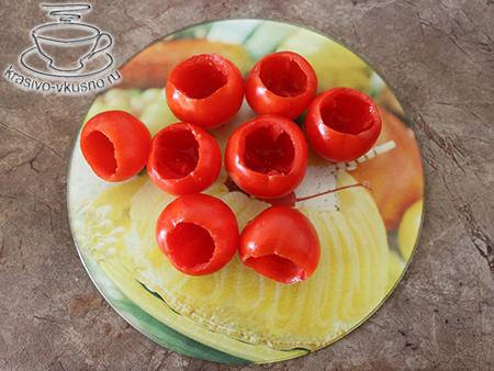 Фаршированные помидоры с творогом